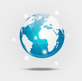 Globe blue — Stock Vector