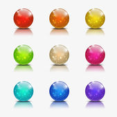 Glossy ball icons — Vettoriale Stock