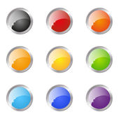 Set of glossy buttons round — Stock Vector