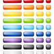 Rainbow buttons — Stock Vector
