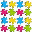 Royalty-Free Stock Vector Image: Puzzle seamless pattern