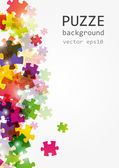 Puzzle color background — Stock Vector
