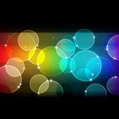 虹の背景のボケ味 — ストックベクタ