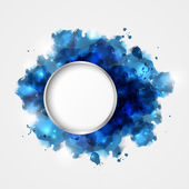Watercolor paper frame — Stock Vector