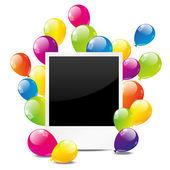 день рождения фото — Cтоковый вектор