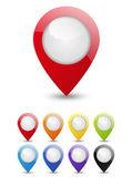 Harita işaretçi kümesi — Stok Vektör