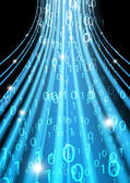 Blauwe binaire code — Stockvector