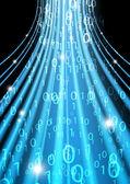 Código binario azul — Vector de stock