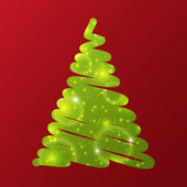 Green Christmas tree — Vecteur