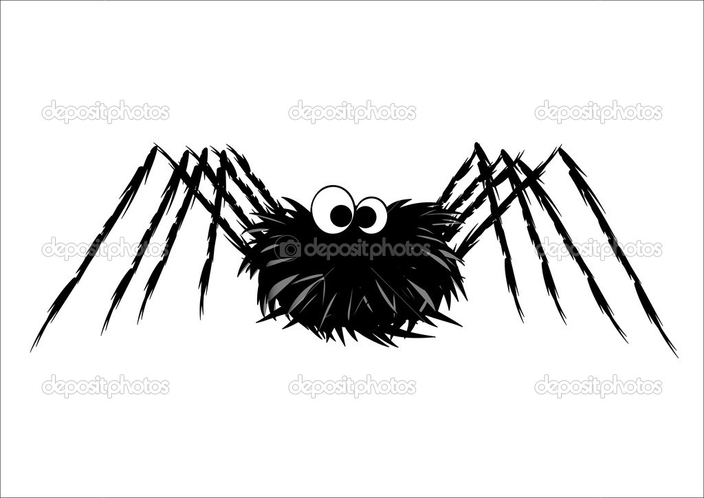 Cute spider isolated on white — Stock Vector #14140533