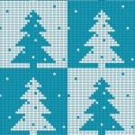 Seamless pattern of Christmas tree — Stock Vector #14675069