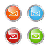 Set of vector mail buttons — Stock Vector