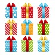 Set of color gift boxes - Imagen vectorial