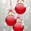 Royalty-Free Stock Vektorfiler: Red Christmas balls