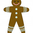 Royalty-Free Stock Vectorafbeeldingen: Gingerbread man