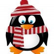 Cute winter penguin - Imagen vectorial