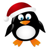 Cute penguin Santa — Stock Vector