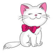 White kitty — Stock Vector