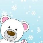 Cute bear Christmas card — Stock Vector #15696391