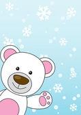 Cute bear Christmas card — Stock Vector