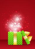 Mágica Navidad en rojo — Vector de stock