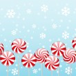 Christmas candies border — Stock vektor