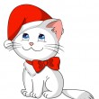 Christmas kitty — Stock Vector