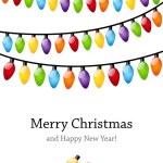 Christmas light bulbs — Stock Vector