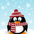 Cute penguin with scarf — Stock vektor