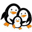 Stock Vector: Penguin family