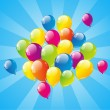 Balloon background - Image vectorielle