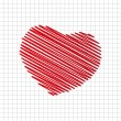 Red heart — Image vectorielle