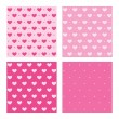 Valentine pink patterns — Stock Vector