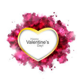 Valentine heart watercolor — Stock Vector