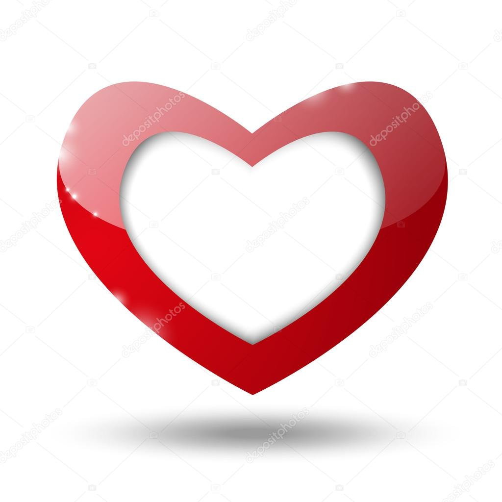 Valentine heart with place for text — Imagens vectoriais em stock #17409579