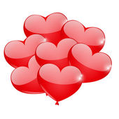 Balão do coração — Vetorial Stock