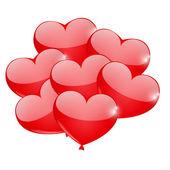 Herz-ballon — Stockvektor