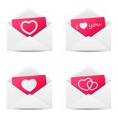 Set of love Valentine message — Stock Vector