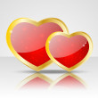Stock Vector: Glossy heart