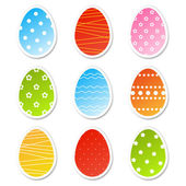 Easter egg stickers — Stock Vector