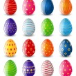Set of color Easter eggs — Stock Vector