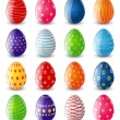Set of color Easter eggs — Stockvectorbeeld