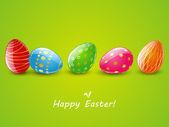 Paskalya kartı renkli yumurta — Stok Vektör