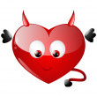 Hell heart — Stock Vector
