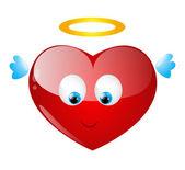 Angel heart — Stock Vector
