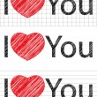 I love you set — Image vectorielle