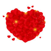 Red hearts — Vector de stock