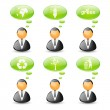 Set of ecology business icons — Stock Vector #19513397