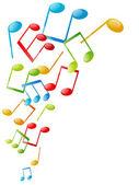 Fondo de notas musicales — Vector de stock