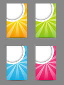 Set of vertical color banners — Stock Vector